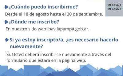 """Inscripción al Plan Provincial de Viviendas """"Mi Casa"""""""