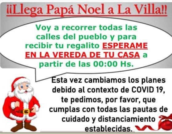 Atención que llega Papá Noel a la Villa